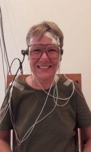 Met een MEG-scan wordt de magnetische activiteit van de hersenen gemeten.