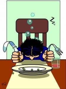 postprandiale slaperigheid (PPS) of in het Engels ook wel 'siësta syndrome' of 'food coma'.
