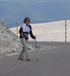 Saskia te voet naar de top van de Mont Ventoux