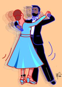 De kracht van dans - cartoon