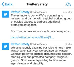 Twitter verbiedt haatdragende berichten gericht op mensen met ziekte of handicap