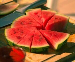 Lycopeen vind je in watermeloen
